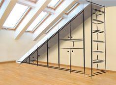 Ideas Walk In Closet Remodel Bedrooms House Design, Loft Storage, House, Closet Remodel, Loft Conversion, Home Staging, Bedroom Loft, Loft Room, Remodel Bedroom