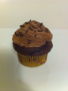 Jack Daniel's chocolate cupcake with chocolate ganache filling and buttercream frosting.
