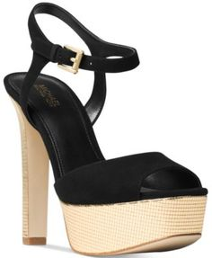 MICHAEL Michael Kors Trish Platform Ankle-Strap Dress Sandals $145.00 Chic suede and an alluring ankle strap create a sleek silhouette in MICHAEL Michael Kors Trish platform pumps.