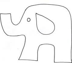 elephant stencil printable - Google Search