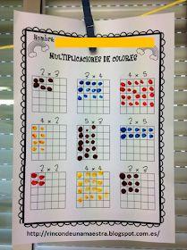 Rincón de una maestra: Multiplicaciones de colores Preschool Learning Activities, Teaching Math, Math For Kids, Fun Math, Classroom Language, School Worksheets, 1st Grade Math, Homeschool Math, Math Facts