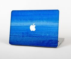 """The Unbalanced Blue Textile Surface Skin Set for the Apple MacBook Pro 15"""" with Retina Display from Design Skinz"""