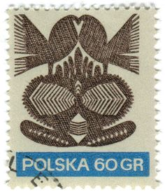 Poland postage stamp: Wycinanki birds c. 1971 (I'll be adding more from this set later, think this is from a series on Wycinanki paper cut art featuring work from different artists—any more info for. Postage Stamp Design, Polish Folk Art, Vintage Stamps, Rare Stamps, My Stamp, Stamp Book, Mail Art, Stamp Collecting, Oeuvre D'art