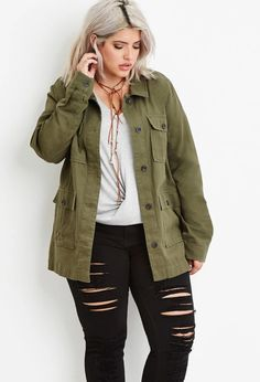 Plus Size Utility Jacket | Forever 21 PLUS #forever21plus