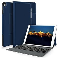 KuGi ipad pro 10.5 keyboard case, Lightweight Stand Portf...