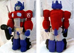 Crocheted Optimus Prime #TransformersRobotsInDisguise