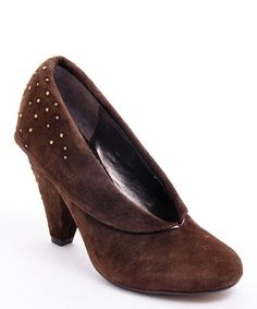 Take a look at this Dark Brown First Date Pump by Envy on #zulily:  $16.99/  $70.00