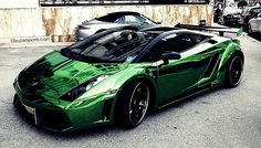 Chrome Green Lamborghini Gallardo