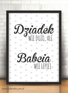 Plakat - Labamba - bo piękno tkwi w szczegółach. Diy Father's Day Gifts, Father's Day Diy, Printable Poster, Wink Of Stella, Diy Presents, Grandparents Day, Cards For Friends, Creative Inspiration, Flyer Design