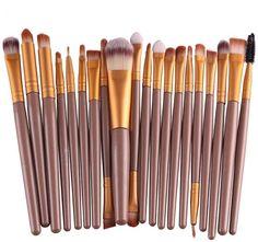 Susenstone 20 Pcs/set Makeup Brush Set (Gold) $5.40 (amazon.com)