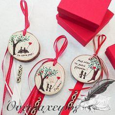 Προσωποποιημένο δώρο για ζευγάρια Diy And Crafts, Party Ideas, Personalized Items, Christmas Ornaments, Holiday Decor, Painting, Wedding, Valentines Day Weddings, Christmas Jewelry