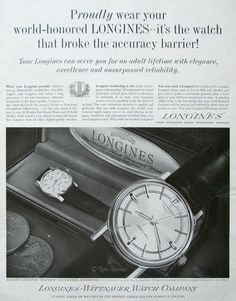Vintage watch ad (1960s)