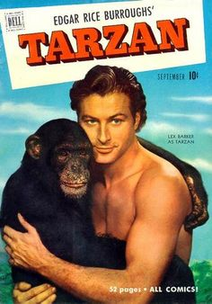 LEX BARKER TARZAN COMIC BOOK COVERS