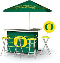 Oregon Ducks Portable Tailgate Bar Set