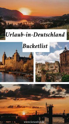 Die Bucketlist für Urlaub in Deutschland mit den Klassikern, aber hauptsächlich mit unbekannteren Reisezielen und Reisetipps, die mit den beliebten Städtereisen mithalten können! Traumurlaub ist auch in Deutschland möglich. Movies, Movie Posters, Vacation Places, Road Trip Destinations, Films, Film Poster, Cinema, Movie, Film
