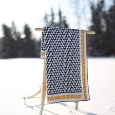 """The """"One Step Beyond"""" Blanket – Free Crochet Pattern Inside – Martin Up North. Sort of Greek key pattern on the body and in the edging. Crochet Afghan Stitch, Crochet Afghans, Crochet Blanket Patterns, Crochet Stitches, Knitting Patterns, Crochet Blankets, Cozy Blankets, Crochet Diy, Manta Crochet"""