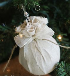 Reinvent old ornaments by covering them in fabric! http://www.rewards4mom.com/beautiful-diy-ornaments-make-home/