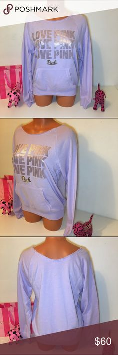 NEW PINK VS LOGO SLOUCHY SWEATSHIRT PINK VICTORIA'S SECRET  SLOUCHY CREWNECK SWEATSHIRT WITH ROSE GOLD AND GOLD LOGO IN THE FRONT AND KANGAROO POCKET. SO GORGEOUS!!! 