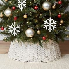 My 2019 Christmas Home Tour! | Driven by Decor Christmas Tree Base, Elegant Christmas Trees, Classy Christmas, Christmas Home, Christmas Tree Decorations, Christmas Ideas, Crochet Christmas, Christmas Angels, Rustic Christmas