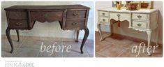 Antes y después de un tocador vintage/Before and after vintage vanity