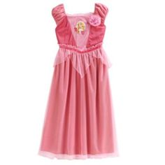 Disney Princess Aurora Sparkle Dress-Up Nightgown - Girls
