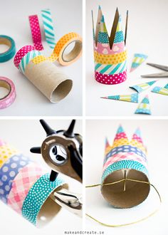 simple birthday crown with washi tape Kids Crafts, Tape Crafts, Diy And Crafts, Craft Projects, Arts And Crafts, Crown Crafts, Diy Y Manualidades, Toilet Paper Roll Crafts, Diy Party