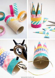 Kalasfina kronor av toarullar - Pyssel & pysseltips - Make & Create