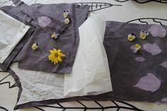 Ihana turhuus: Violetit vaatteet aurinkovärjäyksellä