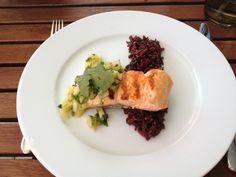 Lachs auf Reis und Mangosalsa  Freunde am Kochen Mango Salsa, Grilled Salmon, Risotto, Spicy, Ethnic Recipes, Blog, Beautiful, Cooking, Salmon