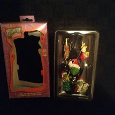 Kurt Adler The Grinch Who Stole Christmas 5 Piece Ornament Tree Set Cartoon