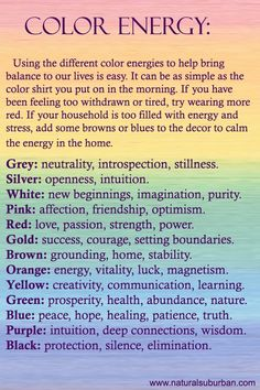 ❤️ ~ Color Energy ~ ☀️