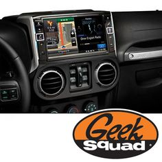 """Alpine 9"""" DVD Stereo Receiver for Select 2011 or Later Jeep Wrangler Vehicles and Geek Squad® Installation"""