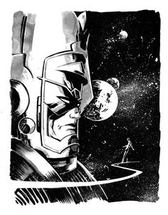 Galactus and the Silver Surfer - Mike Henderson