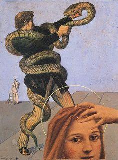 Max Ernst, 1929 / serpiente, surrealismo, pintura, arte