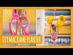 This is not as daunting as it seemed, and would look totally swanky in a dorm room when the sun comes out!![DIY Macrame Planter - HGTV Handmade]
