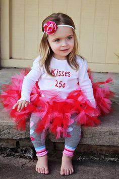 Valentines Petti tutu outfit. $30.00, via Etsy.