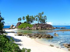 Enjoy once in a lifetime views of the Indian ocean in the lush island sanctuary of Seychelles! Would you go there, travelers? Beautiful Places In The World, Beautiful Places To Visit, Beautiful Beaches, Les Seychelles, Seychelles Islands, Seychelles Africa, National Geographic, Places To Travel, Places To Go