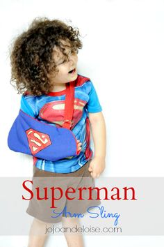 How to Make a Childrens Medical Arm Sling Knitting For Kids, Sewing For Kids, Diy For Kids, Kids Arm Sling, Sewing Tutorials, Sewing Projects, Sewing Ideas, Superman, Arm Cast