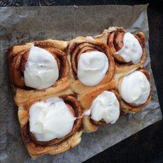 Cream Cheese Iced Cinnamon Buns