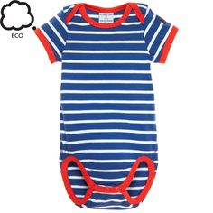 SAILOR STRIPE ECO NEWBORN BODYSUIT