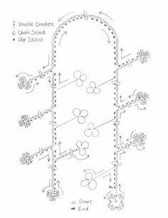 Patrones para Crochet: Collar de Crochet con Abalorios