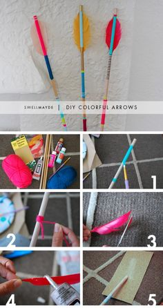 Arrows for target decor