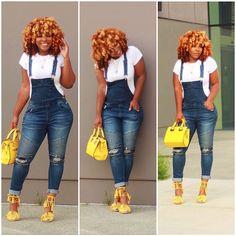 Black Women Fashion, Cute Fashion, Denim Fashion, Girl Fashion, Fashion Looks, Womens Fashion, Cute Casual Outfits, Chic Outfits, Casual Chic