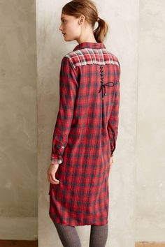 Cheyenne Flannel Shirtdress - anthropologie.com