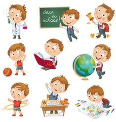back to school. cute schoolchild at a lesson of geography literature physical education biology botany chemistry drawing. young boy raising his hand in school. wrote in chalk on blackboard School Cartoon, Cartoon Kids, Cat Vector, Vector Free, Vector Stock, School Vector, Superhero Kids, Kid Character, Free Illustrations