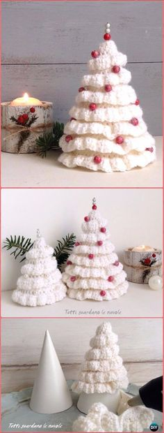 Crochet Ruffle Around Christmas Tree Free Pattern - Crochet Christmas Tree Free Patterns