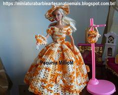 Vestido dA Bela e a Fera em Crochê Para Bonecas com Passo a Passo de Pecunia MillioM 4