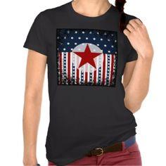 Patriotic Stars and Stripes American Flag Design Tees