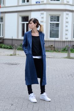 Pinstripe coat / Lovely by Lucy