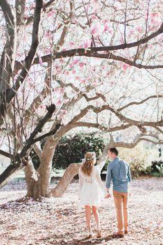 Blogger Belle Vies's Cherry Blossom D.C. Engagement Session: http://www.stylemepretty.com/washington-dc-weddings/2016/02/09/blogger-belles-vies-cherry-blossom-filled-washington-dc-engagement/ | Photography: Annamarie Atkins - http://annamarieakinsphotography.com/